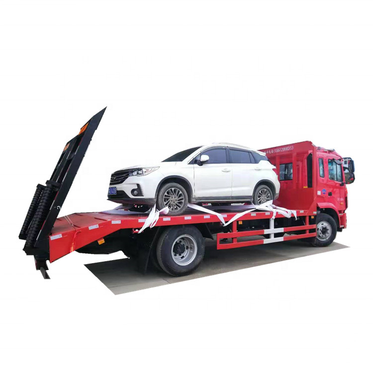 FAW Powered Platform Vehicle For Transportation 4*2 LHD FAW Flat Truck Euro 3