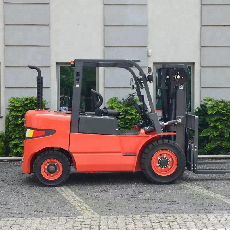 3 Stage Port Handling Equipments LG50DT With Light Weight 5 Ton Hydraulic Forklift Truck Diesel Machines