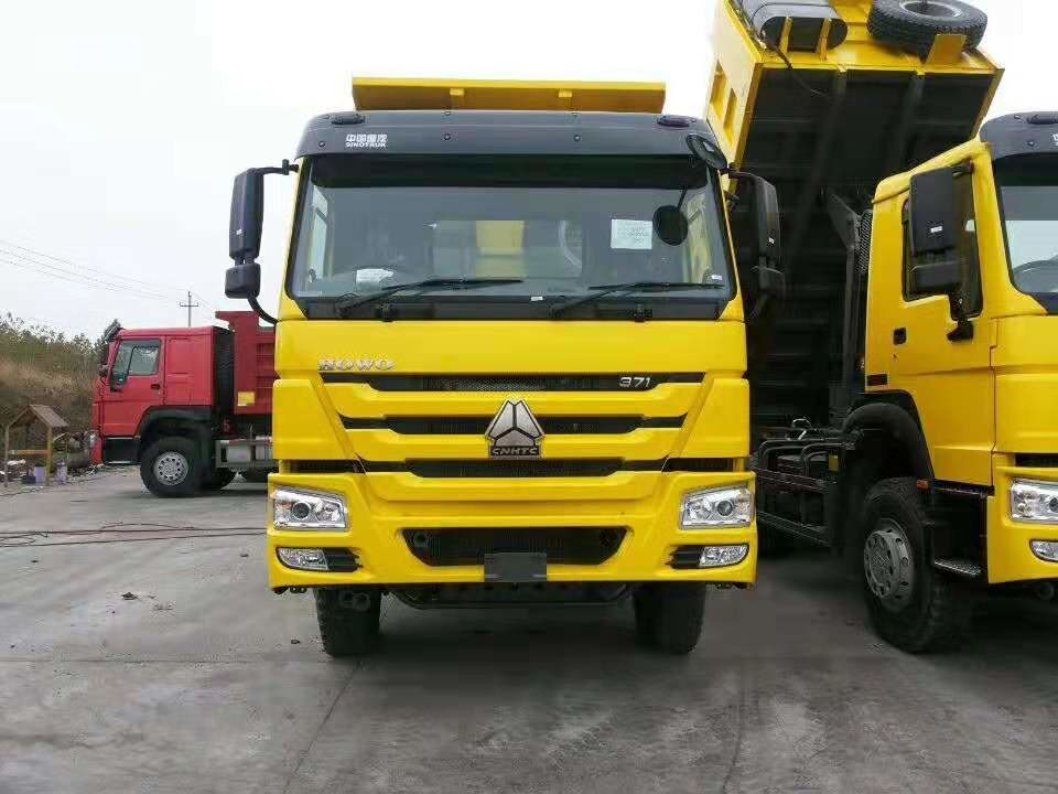 Sinotruk Howo 6x4 Type 371hp Heavy Duty Dump Truck With HW19710 Transmission And ZF Steering